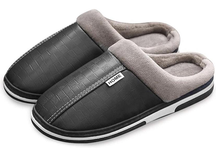 Zapatillas de Estar por casa Impermeables Cuero