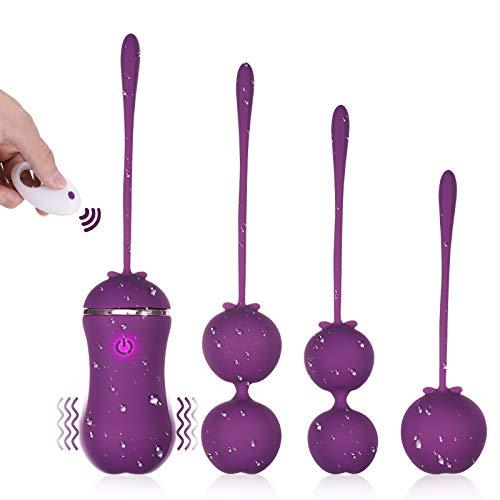 Bolas para Mujer con Control Remoto con 10 Modos de Frecuencia, Silicona Suave, Impermeable y Carga USB.