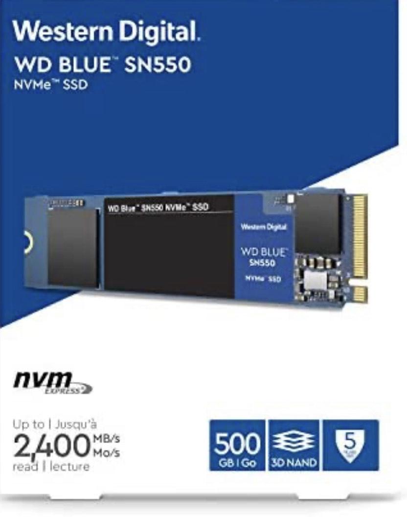 Disco duro SSD M.2 de 500GB