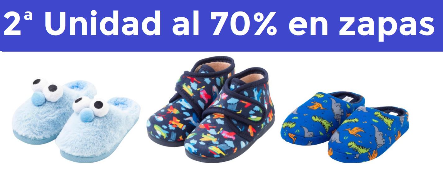 2ª Unidad al 70% en zapatillas niñ@s