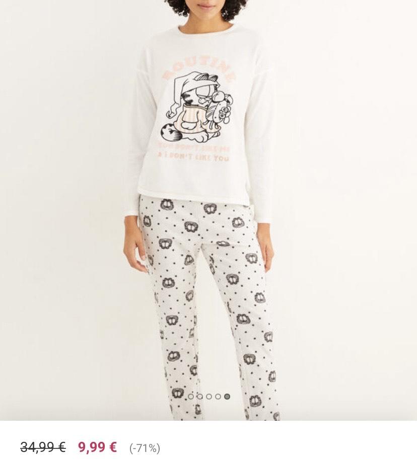Pijama largo polar Garfield tallas XS y S