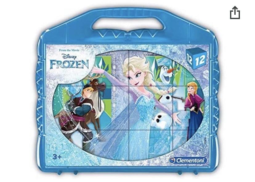 Clementoni- Frozen Rompecabezas maletín 12 Cubos