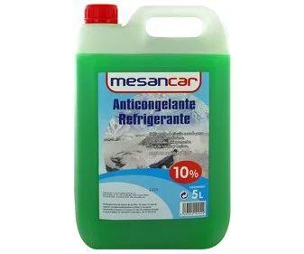 Líquido refrigerante Anticongelante con temperatura de protección de hasta -4ºC, 5L verde, 10% Monoetilenglicol, MESANCAR.
