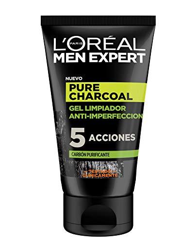 L'Oreal Men Expert Pure Charcoal, gel limpiador con carbon, 6 x 100ml