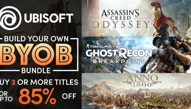 Ubisoft - Build Your Own Bundle | Hasta un 85% de descuento | Ej: Assassin's Creed Odyssey 9 €, Rainbow Six Siege a 3 €