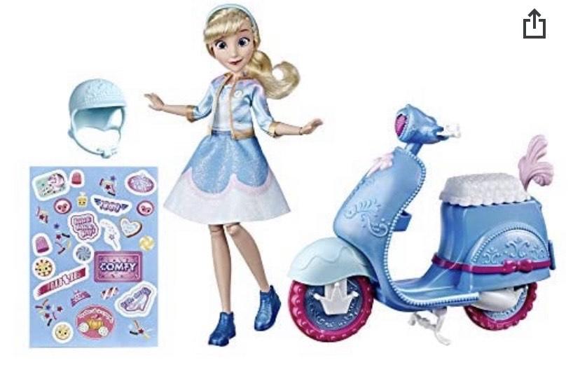 Disney Princess Muñeca Cenicienta Y Scooter