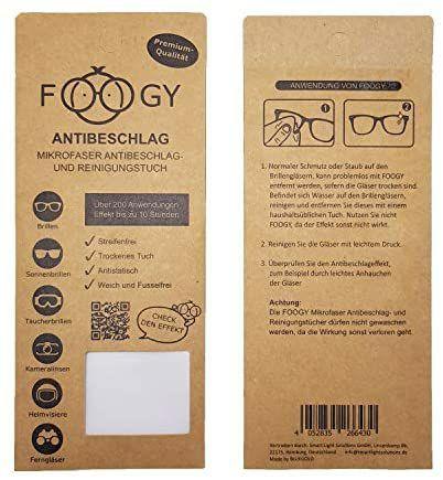 FOOGY gamuza de microfibra antivaho para gafas