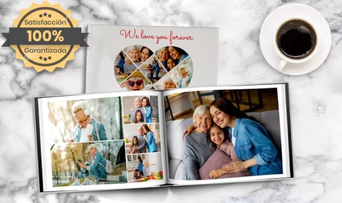 ¡Oferta Especial! 1 fotolibro de tapa dura fotográfica formato A5 con 30 páginas