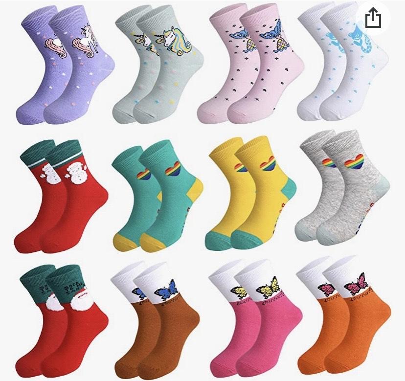 12 pares de calcetines niña