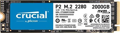 SSD Crucial P2 M.2 2TB por 179,99€