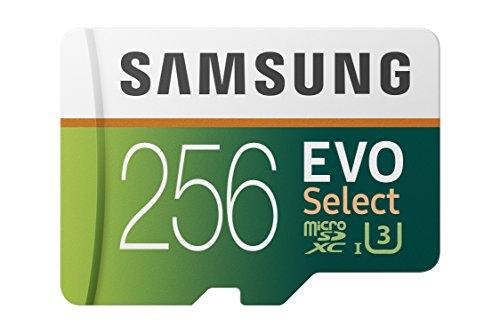 Samsung EVO Select 256 GB microSD 100 MB/s, Velocidad, Full HD & 4K UHD, Tarjeta de Memoria Incluye Adaptador SD