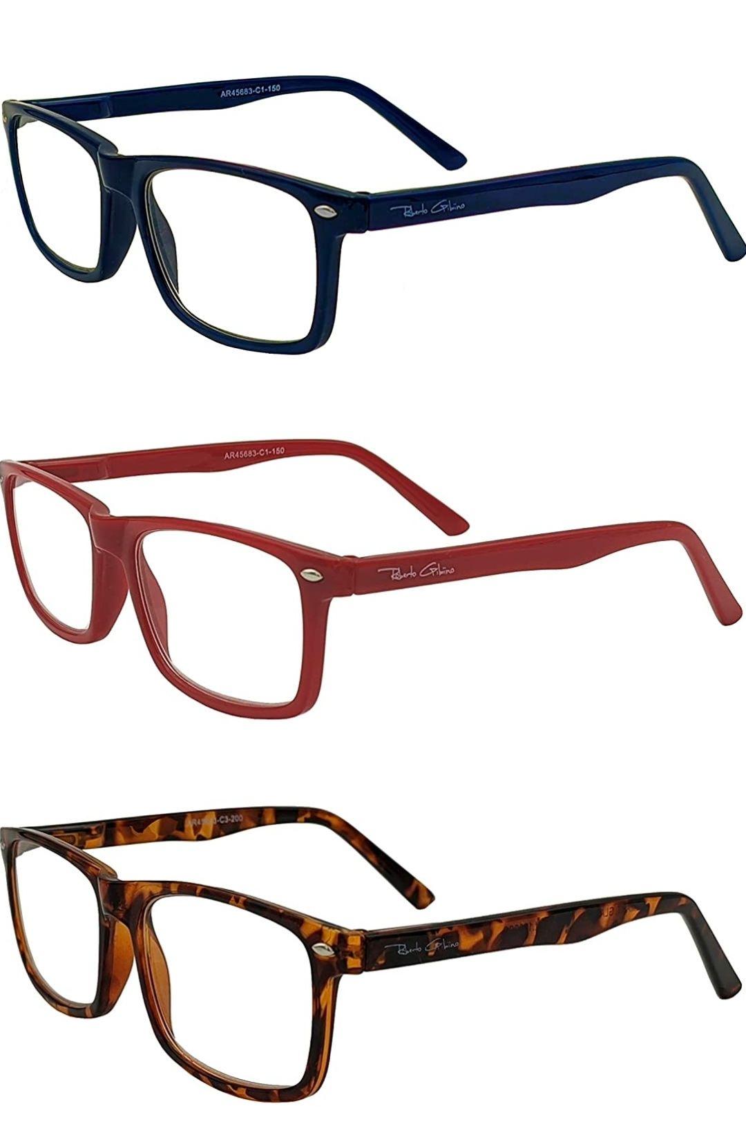 Gafas de lectura para la presbicia (3 colores) Modelo SMART GLASSES 2021 Marco de moda pulido Diseño rectangular