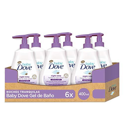 Baby Dove Gel de Ducha para Bebés Noches Tranquilas - Pack de 6 x 400 ml