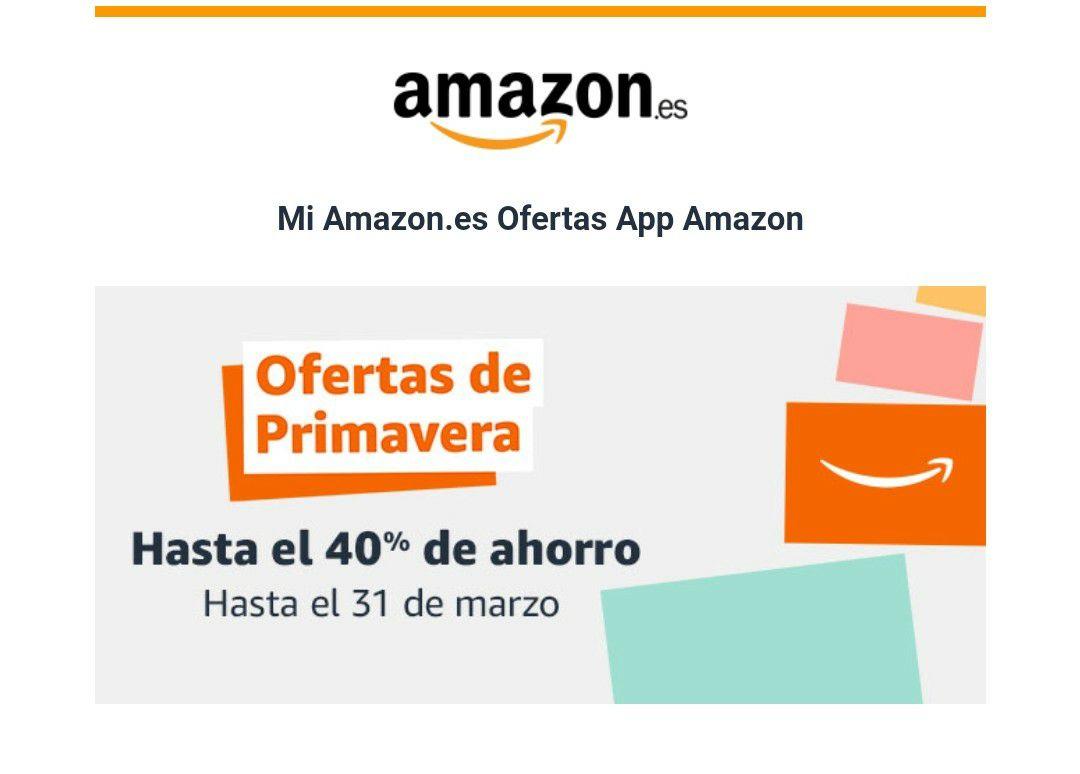 Amazon Ofertas de Primavera hasta el 40%