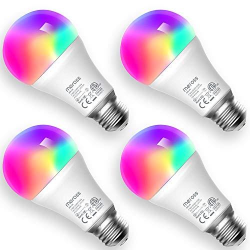 Pack 4x bombillas E27 inteligentes RGB Meross
