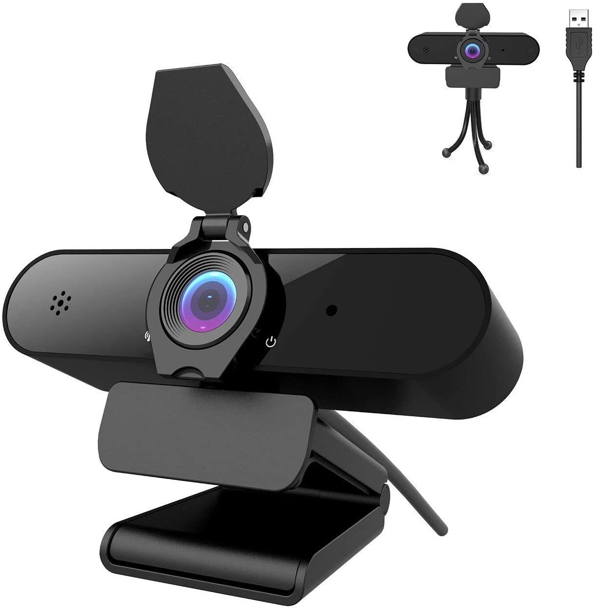 Webcam PC 2K/4MP/1440P con micrófono y tripode