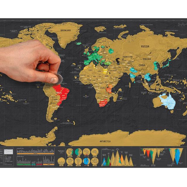 Mapa mundo para rascar