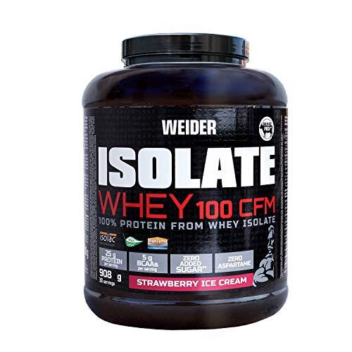 Weider Isolate Whey 100CFM 908gr Sabor Fresa, proteinas