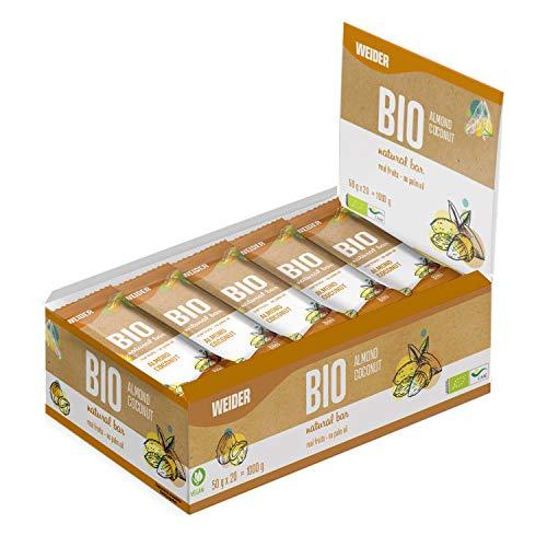 Weider Bio Bar Almond Y Coco, 20 x 50g