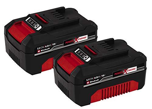 Einhell Pack Doble de baterías 4,0 Ah Power X-Change