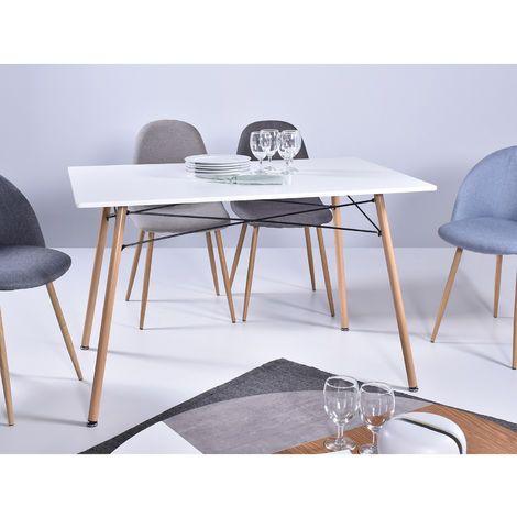 Mesa de comedor estilo nordico 110 x 70 cm