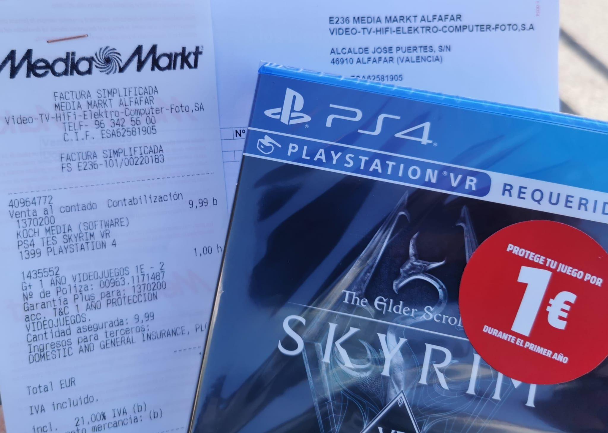 Skyrim vr PlayStation 4 en MediaMarkt Valencia