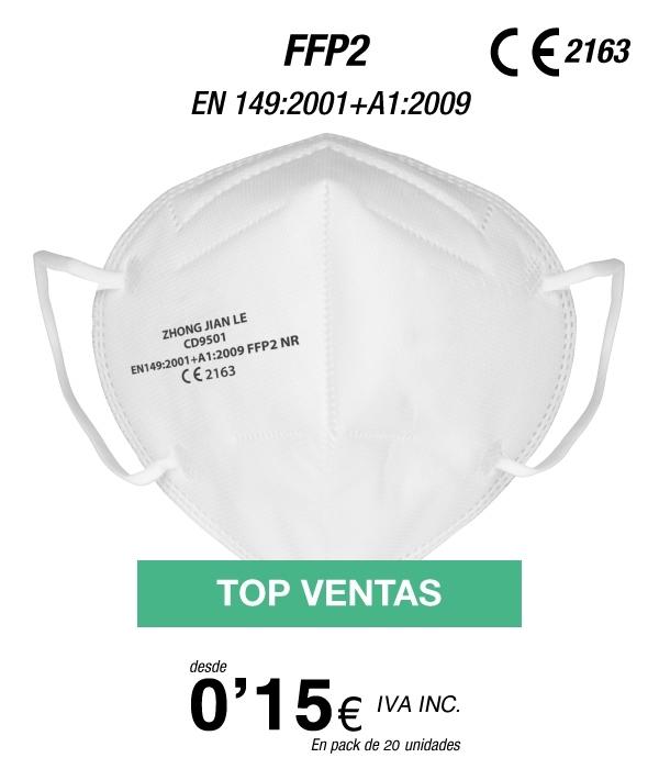 FFP2 a 15 cent/Ud (8 euros 20 unidades)