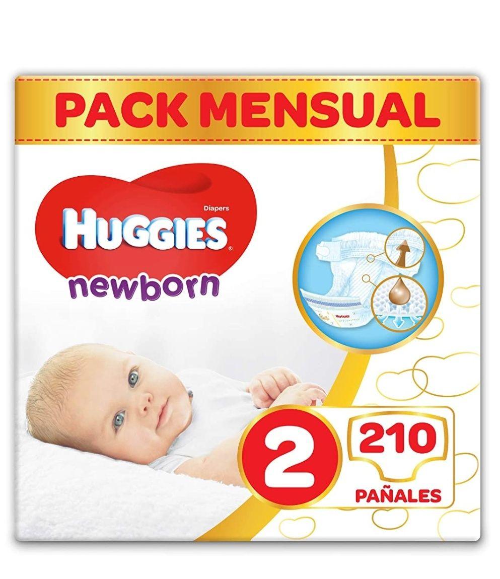 Pañales Huggies Newborn Talla 2 (3-6 kg) - 210 pañales