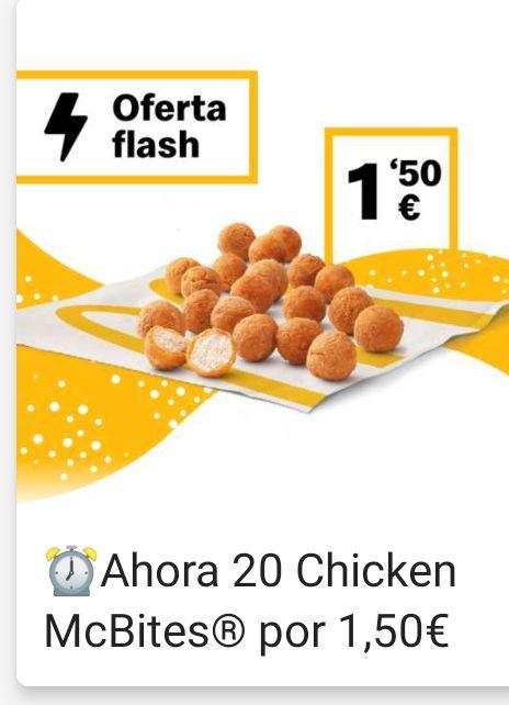 20 Chicken Mcbites a 1,50€