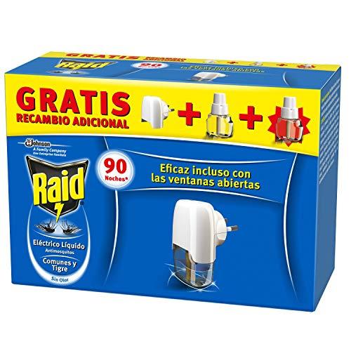Raid Eléctrico Anti Mosquitos Comunes y Tigre 90 Noches con Aplicador y 2 Recambios