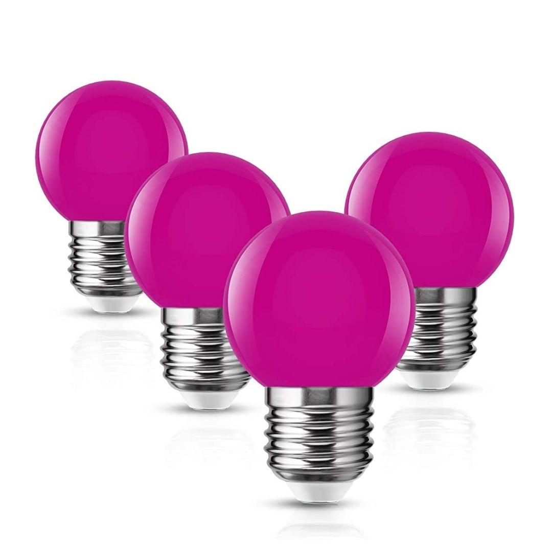 Pack4 Bombilla E27 Edison Cap,1W Lámpara 100LM Equivalente a Halógenas 10W Lámpara de ahorro de energía,