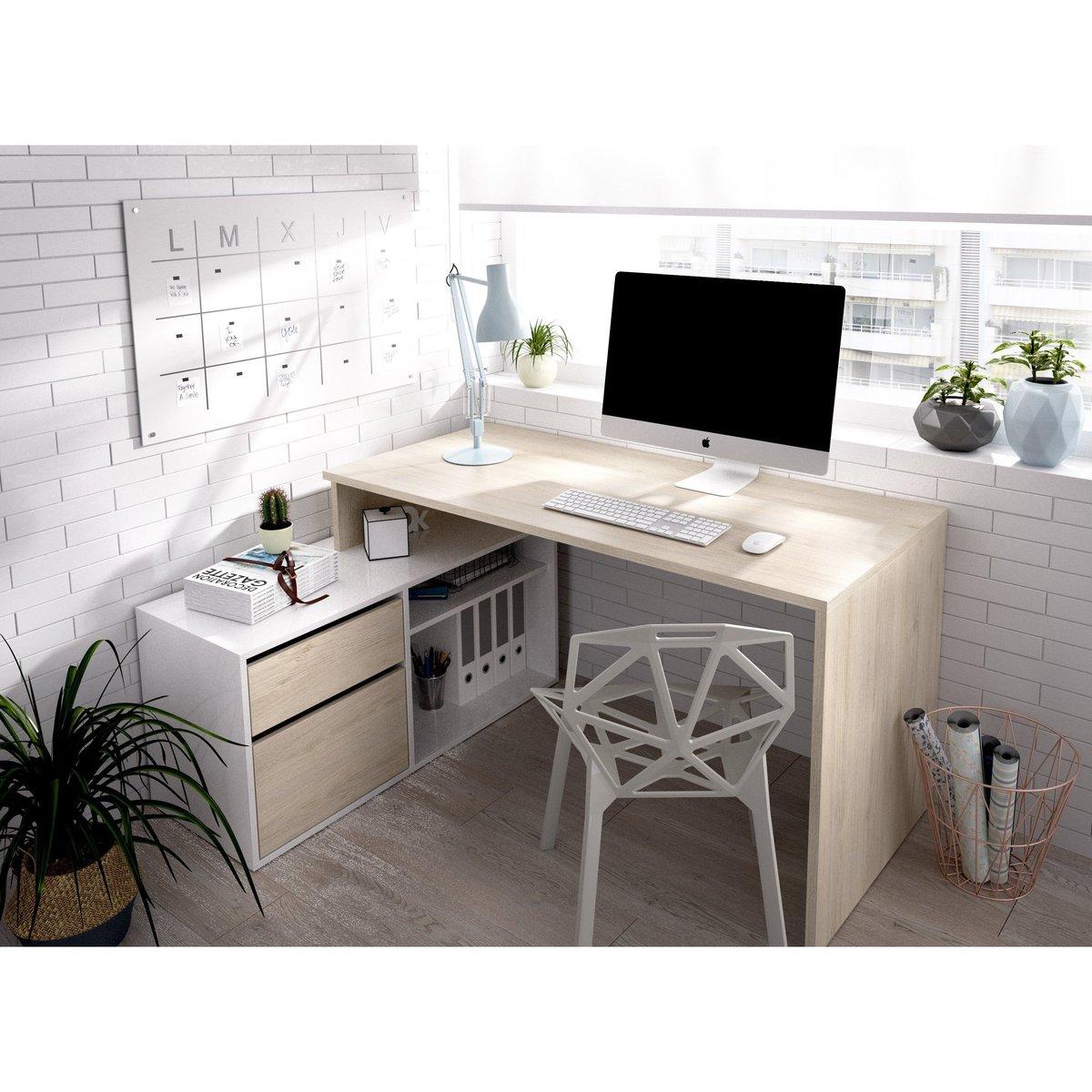 """Mesa escritorio en """"L"""" 139 cm"""