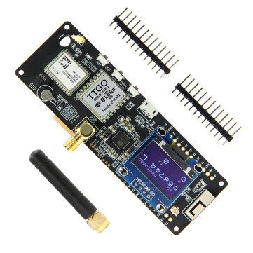 LILYGO®TTGO-módulo Bluetooth con WiFi para NEO-6M, soporte de batería con OLED, V1.1, ESP32, 868 Mhz, GPS, SMA 18650