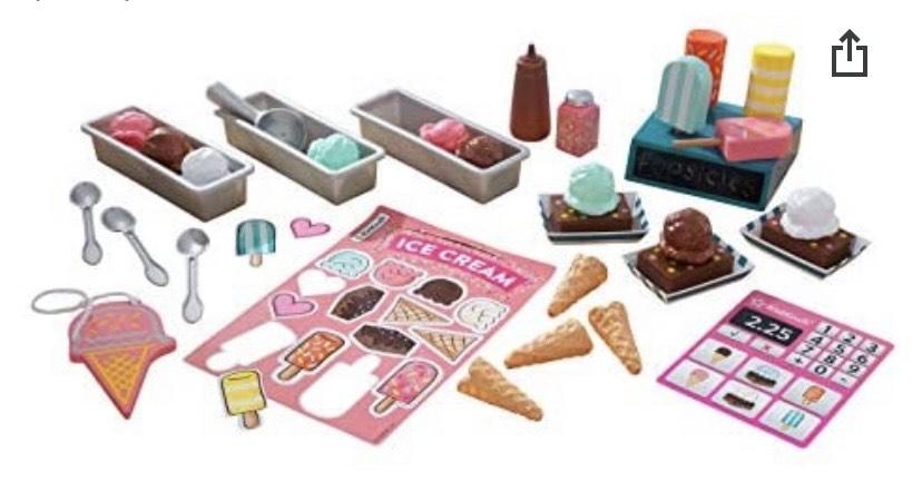 KidKraft- Kit de juguetes de madera con forma de helados (incluye más de 20 unidades)
