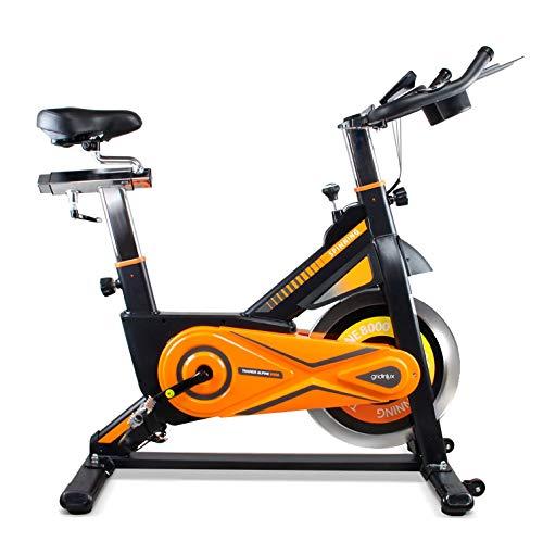 Bicicleta estática Ciclo Indoor. Volante de Inercia 25 kg, Nivel Avanzado, Altura Ajustable, Pantalla LCD, Fitness, Unisex.
