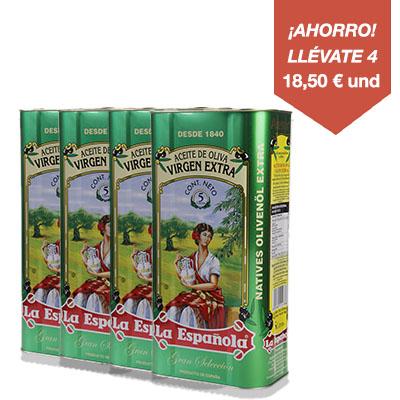 Aceite de Oliva Virgen Extra Lata 5L La Española