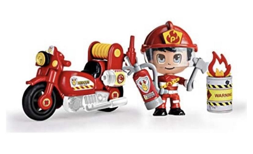 Pinypon Action - Moto de Bombero con 1 figurita