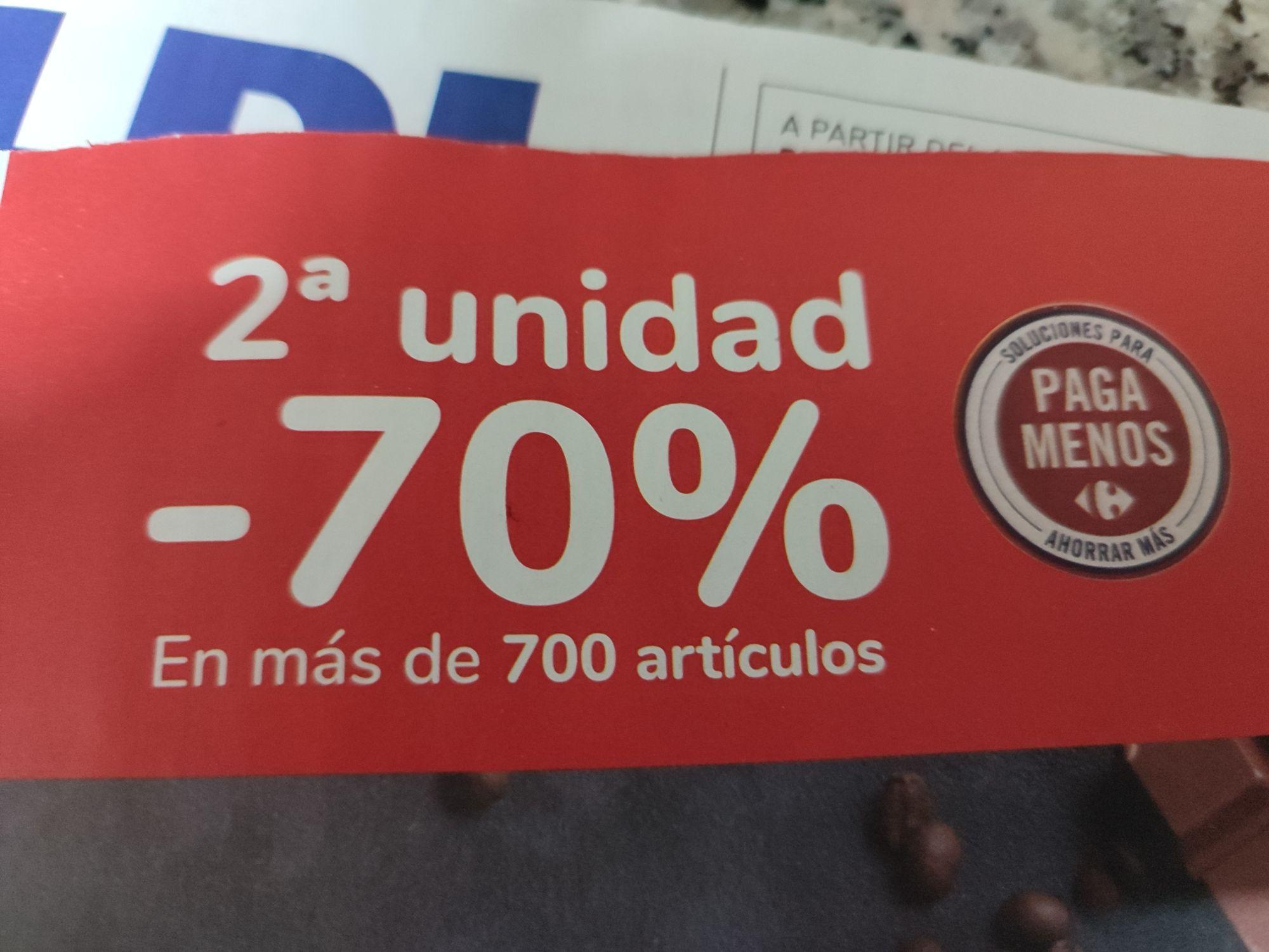 Segunda unidad al 70% en Carrefour