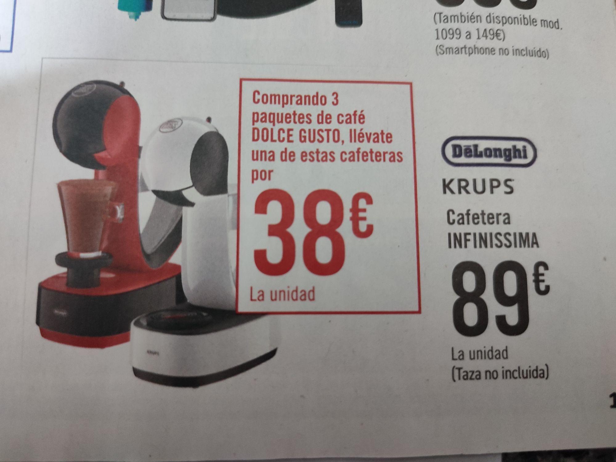 Cafetera dolce gusto Krups infinissima delonghi en Carrefour