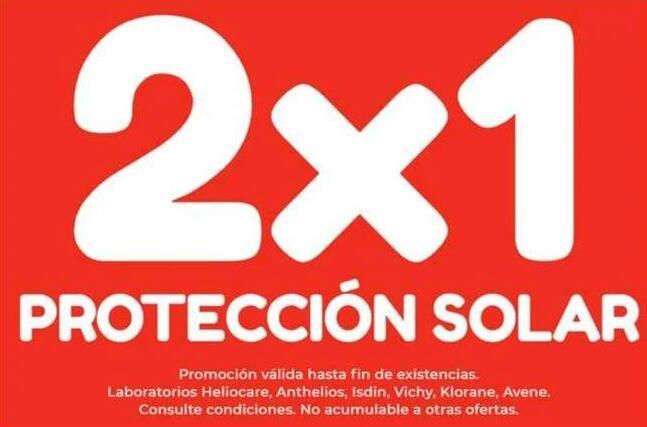 2X1 En Protección Solar en tienda física Botica San Miguel (Madrid)