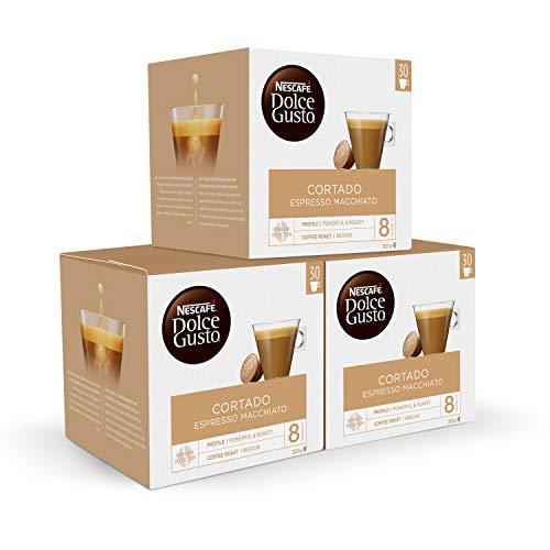 3 cajas de 30 cápsulas de cortado dolce gusto (90 cápsulas)