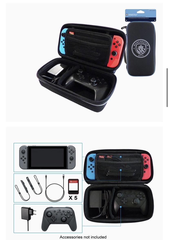 Funda protectora y accesorios del Manchester City Football Club para Nintendo Switch