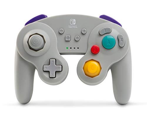 Mando inalámbrico para Nintendo Switch GameCube. Estilo GameCube Gris
