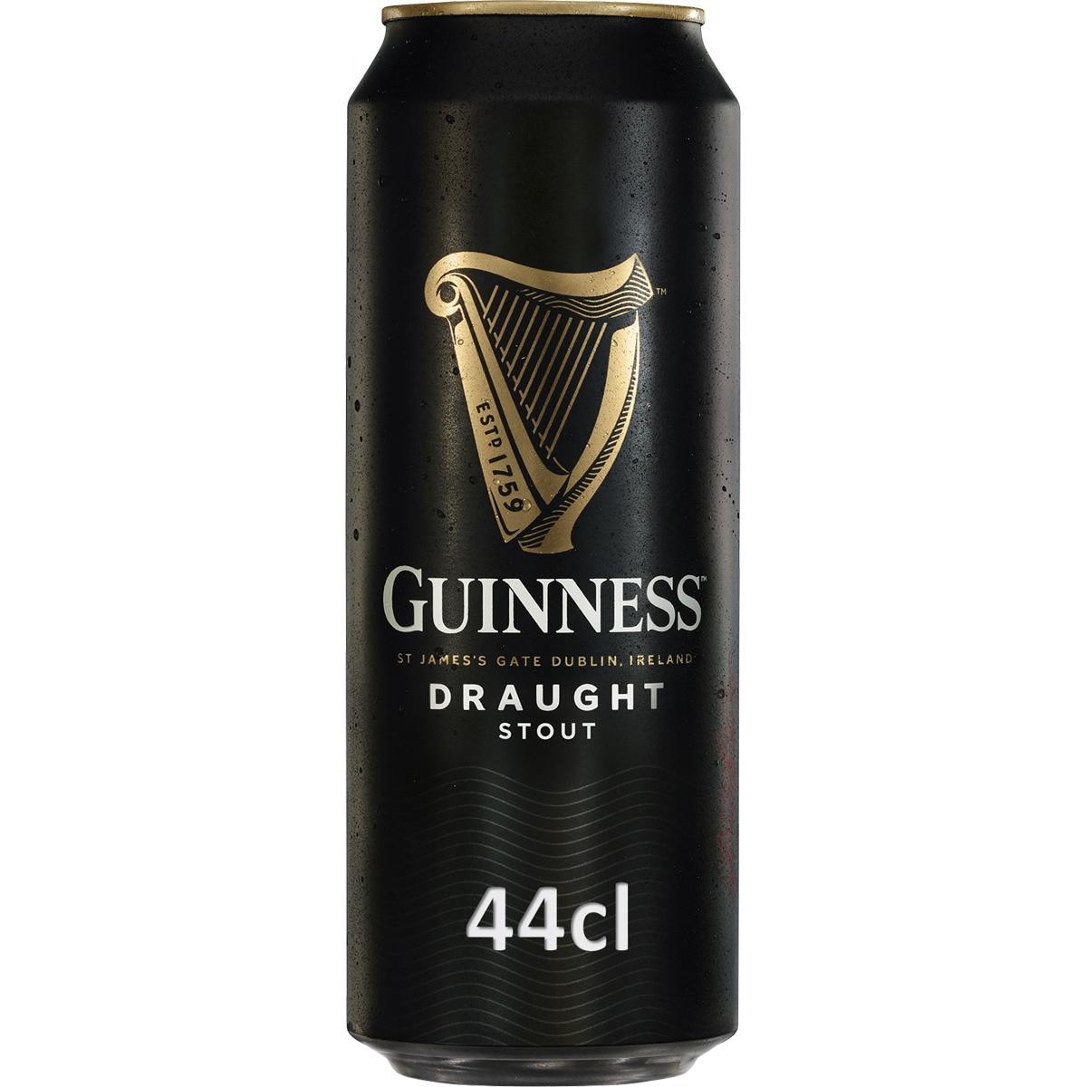 Lata Guinness 44cl --> 2a ud al 50% + 25% Bonificación por +15€