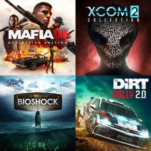 Mafia III: Definitive Edition, DiRT Rally 2.0, Bioshock collection, Xcom 2 [Steam]