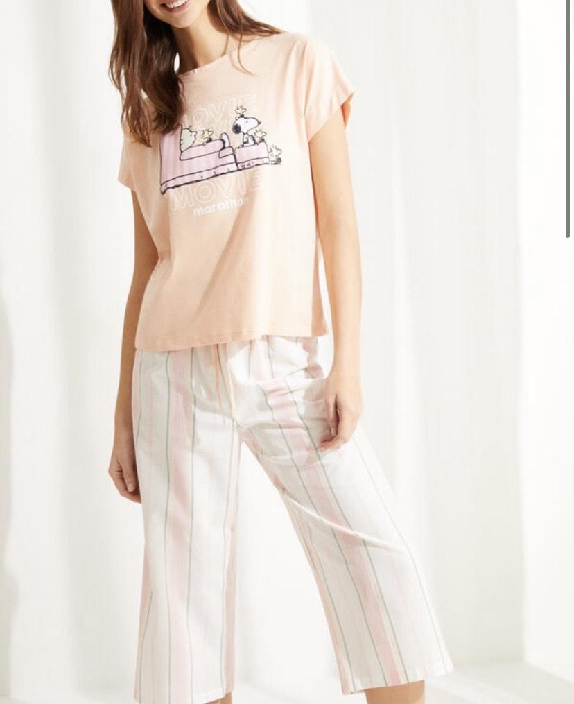 Pijama algodón Snoopy Capri