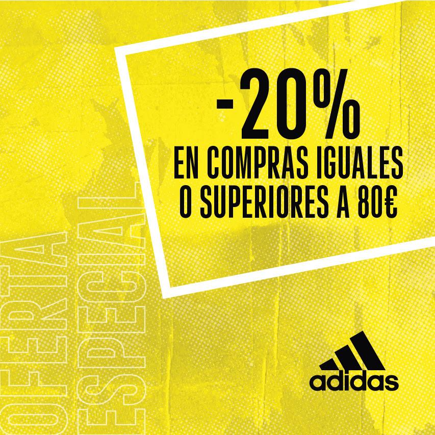 ADIDAS -20% en compras iguales o superiores a 80€*