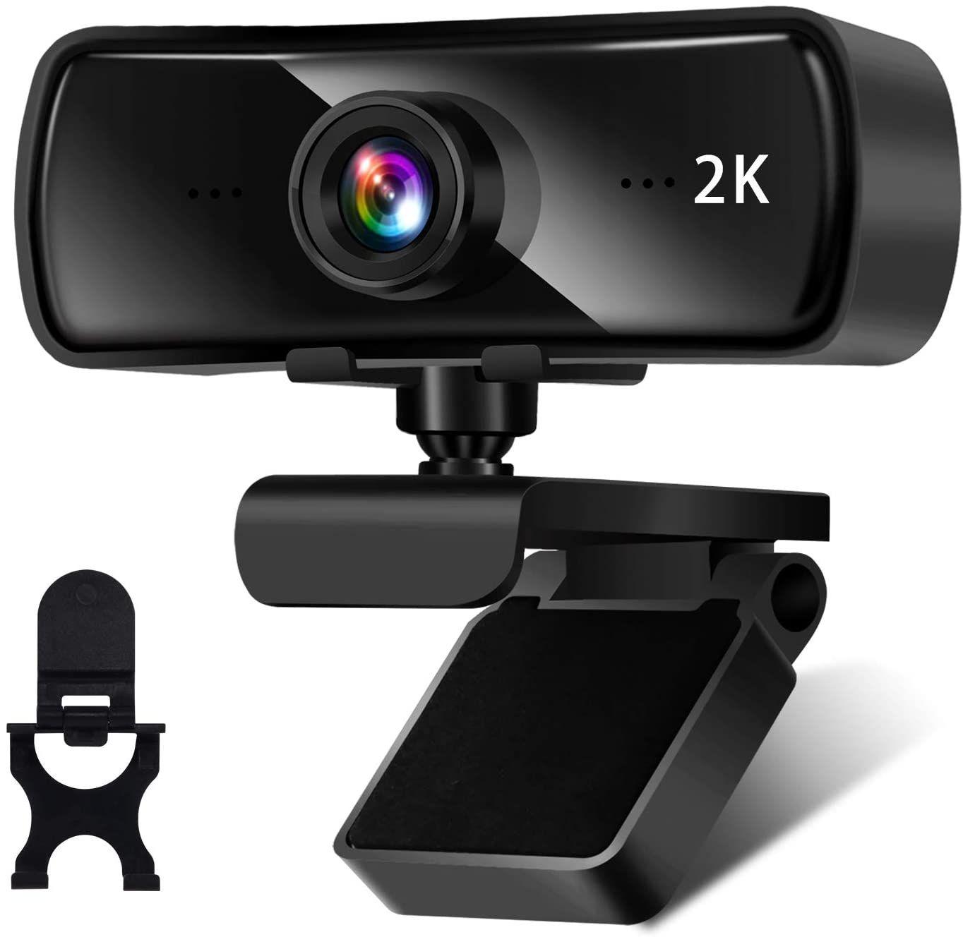 AceScreen Webcam resolución de hasta 2560 x 1440 a 30 fps con Chat, Streaming y Grabación, Diseño Plegable y Giratorio de 360 °