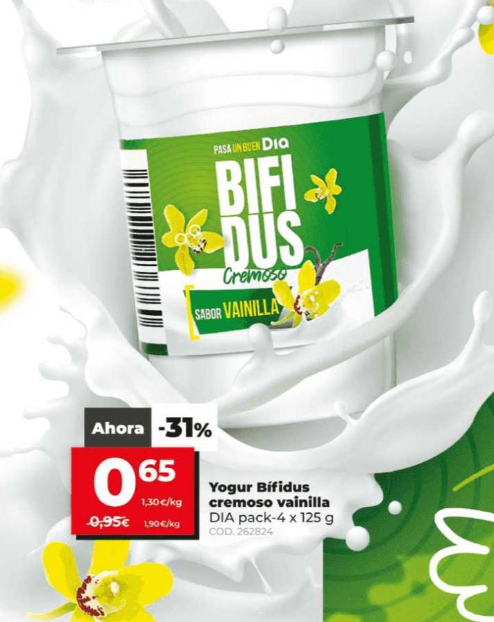 Yogur Cremoso Bífidus Dia pack 4x125g