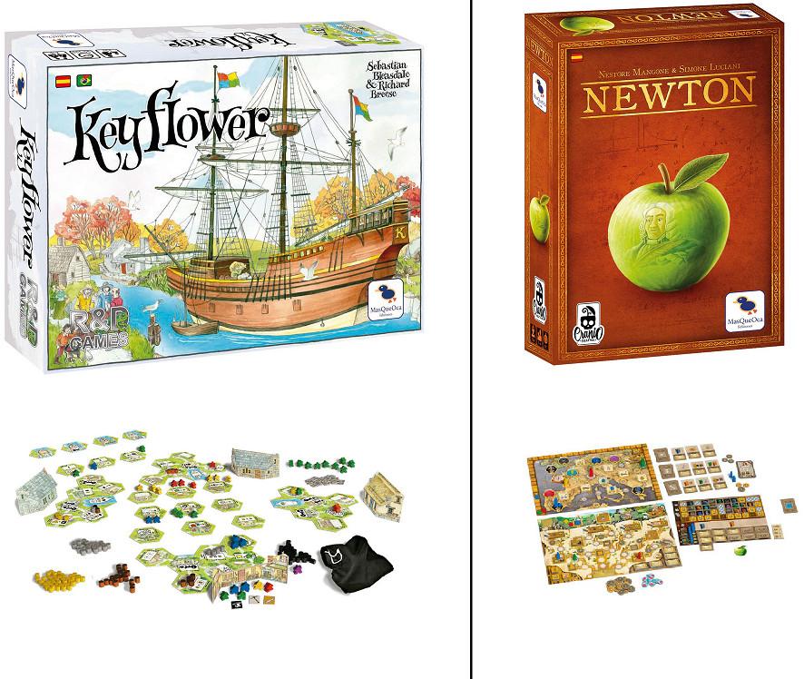Juegos de mesa: Keyflower o Newton por sólo 24,97€ cada uno